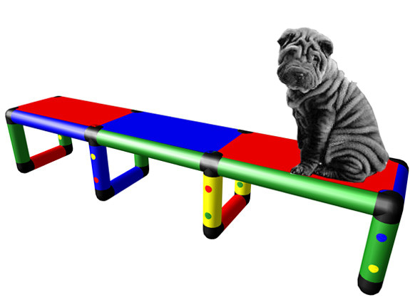 Welpen-Brücke, Schnüffelpfad für Hunde