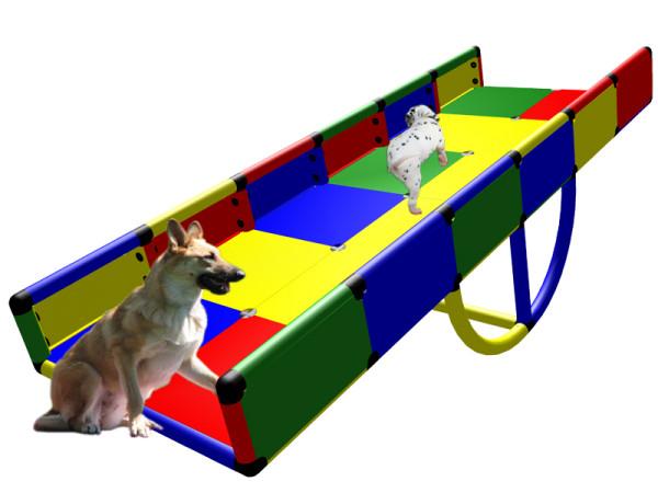 Hundewippe Giant Agility Wippe drehen ist Kriechtunnel