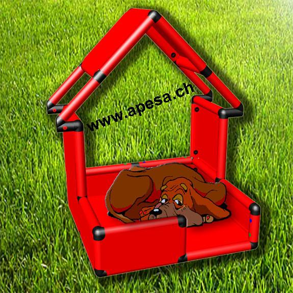 Hundehütte für drinnen und draussen 85x85cm