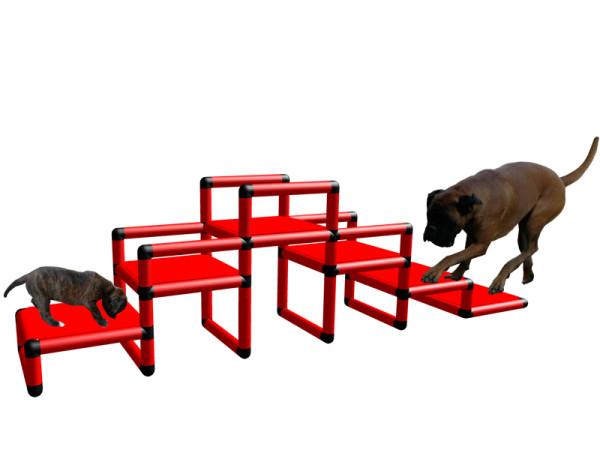 Hundetreppe als Welpentreppe nur 15 cm Stufenhöhe