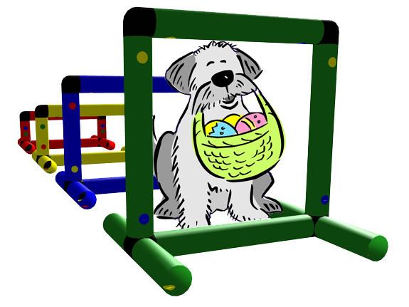 Hindernisparcour für Hunde mit 4 Hindernissen